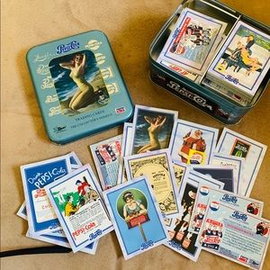 Vintage (1995) PepsiTrading/Advertising Cards +Tin